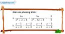 Câu 3.30 trang 63 SBT Đại số 10 Nâng cao