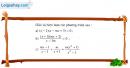 Câu 3.32 trang 63 SBT Đại số 10 Nâng cao