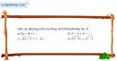 Câu 3.7 trang 59 SBT Đại số 10 Nâng cao