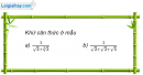 Câu 2.15 trang 73 sách bài tập Giải tích 12 Nâng cao