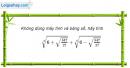 Câu 2.16 trang 73 sách bài tập Giải tích 12 Nâng cao