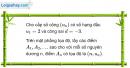 Câu 3.36 trang 91 sách bài tập Đại số và Giải tích 11 Nâng cao