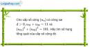 Câu 3.39 trang 91 sách bài tập Đại số và Giải tích 11 Nâng cao