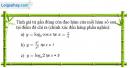 Câu 2.79 trang 83 sách bài tập Giải tích 12 Nâng cao