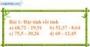 Bài 1 trang 54 (luyện tập) sgk Toán 5