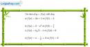 Câu 3.5 trang 141 sách bài tập Giải tích 12 Nâng cao