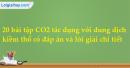 20 bài tập CO2 tác dụng với dung dịch kiềm thổ có đáp án và lời giải chi tiết