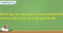 20 bài tập vận dụng cao về kim loại kiềm thổ và hợp chất có đáp án và lời giải chi tiết