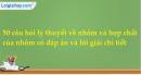 50 câu hỏi lý thuyết về nhôm và hợp chất của nhôm có đáp án và lời giải chi tiết
