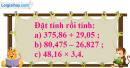 Bài 1 trang 61 Tiết 29 sgk Toán 5