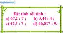 Bài 1 trang 64 Tiết 32 sgk Toán 5