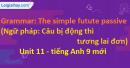 Grammar: The future simple passive - Unit 11 SGK Tiếng Anh 9 mới