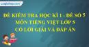 Đề số 5 - Đề thi học kì 1 - Tiếng Việt 5