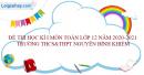 Đề thi học kì 1 toán lớp 12 năm 2020 - 2021 trường THCS&THPT Nguyễn Bỉnh Khiêm