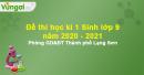 Đề thi học kì 1 Sinh lớp 9 năm 2020 - 2021 Phòng GD&ĐT Thành phố Lạng Sơn