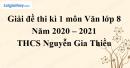 Giải chi tiết đề thi kì 1 môn văn lớp 8 năm 2020 - 2021 Trường THCS Nguyễn Gia Thiều