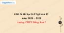 Đề thi học kì 1 môn Ngữ văn lớp 12 năm 2020 - 2021 trường THPT Đông Sơn 1