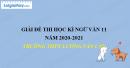 Đề thi học kì 1 môn Ngữ văn lớp 11 năm 2020 - 2021 trường THPT Lương Văn Can