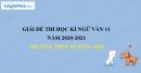 Đề thi học kì 1 môn Ngữ văn lớp 11 năm 2020 - 2021 trường THPT Mường Nhé