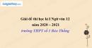 Đề thi học kì 1 môn Ngữ văn lớp 12 năm 2020 - 2021 trường THPT số 1 Bảo Thắng