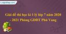 Đề thi học kì 1 lý lớp 7 năm 2020 - 2021 Phòng GDĐT Phú Vang