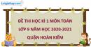 Giải đề thi học kì 1 toán lớp 9 năm 2020 - 2021 quận Hoàn Kiếm