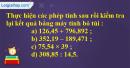 Bài 1 trang 82 Tiết 51 sgk Toán 5