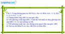 Câu 2 Đề I trang 132 SGK Hình học 12 Nâng cao