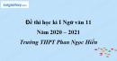 Đề thi học kì 1 môn Ngữ văn lớp 11 năm 2020 - 2021 trường THPT