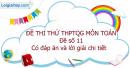 Đề số 11 - Đề thi thử THPT Quốc gia môn Toán