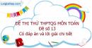 Đề số 13 - Đề thi thử THPT Quốc gia môn Toán