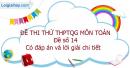 Đề số 14 - Đề thi thử THPT Quốc gia môn Toán