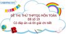 Đề số 19 - Đề thi thử THPT Quốc gia môn Toán