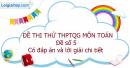 Đề số 5 - Đề thi thử THPT Quốc gia môn Toán