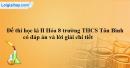 Đề thi học kì II Hóa 8 trường THCS Tân Bình có đáp án và lời giải chi tiết