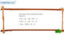 Câu 3.60 trang 68 SBT Đại số 10 Nâng cao