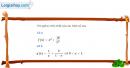 Câu 4.20 trang 105 SBT Đại số 10 Nâng cao