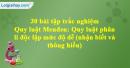 30 bài tập Quy luật Menđen: Quy luật phân li độc lập mức độ dễ - phần 3