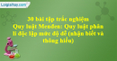 30 bài tập Quy luật Menđen: Quy luật phân li độc lập mức độ dễ - phần 5