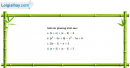 Câu 4.45 trang 109 SBT Đại số 10 Nâng cao