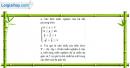 Câu 4.51 trang 110 SBT Đại số 10 Nâng cao