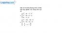 Câu 4.64 trang 113 SBT Đại số 10 Nâng cao