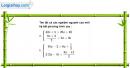 Câu 4.91 trang 117 SBT Đại số 10 Nâng cao
