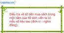 Câu 5.2 trang 174 SBT Đại số 10 Nâng cao
