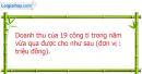Câu 5.4 trang 175 SBT Đại số 10 Nâng cao