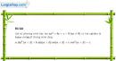 Câu 6.61 trang 207 SBT Đại số 10 Nâng cao