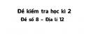 Đề số 8 - Đề kiểm tra học kì 2 - Địa lí 12