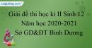 Giải đề thi học kì 2 Sinh lớp 12 năm 2020-2021 Sở GD&ĐT Bình Dương