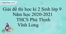 Giải đề thi học kì 2 Sinh lớp 9 năm học 2020-2021 THCS Phú Thịnh