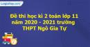 Giải đề thi học kì 2 toán lớp 11 năm 2020 - 2021 trường THPT Ngô Gia Tự